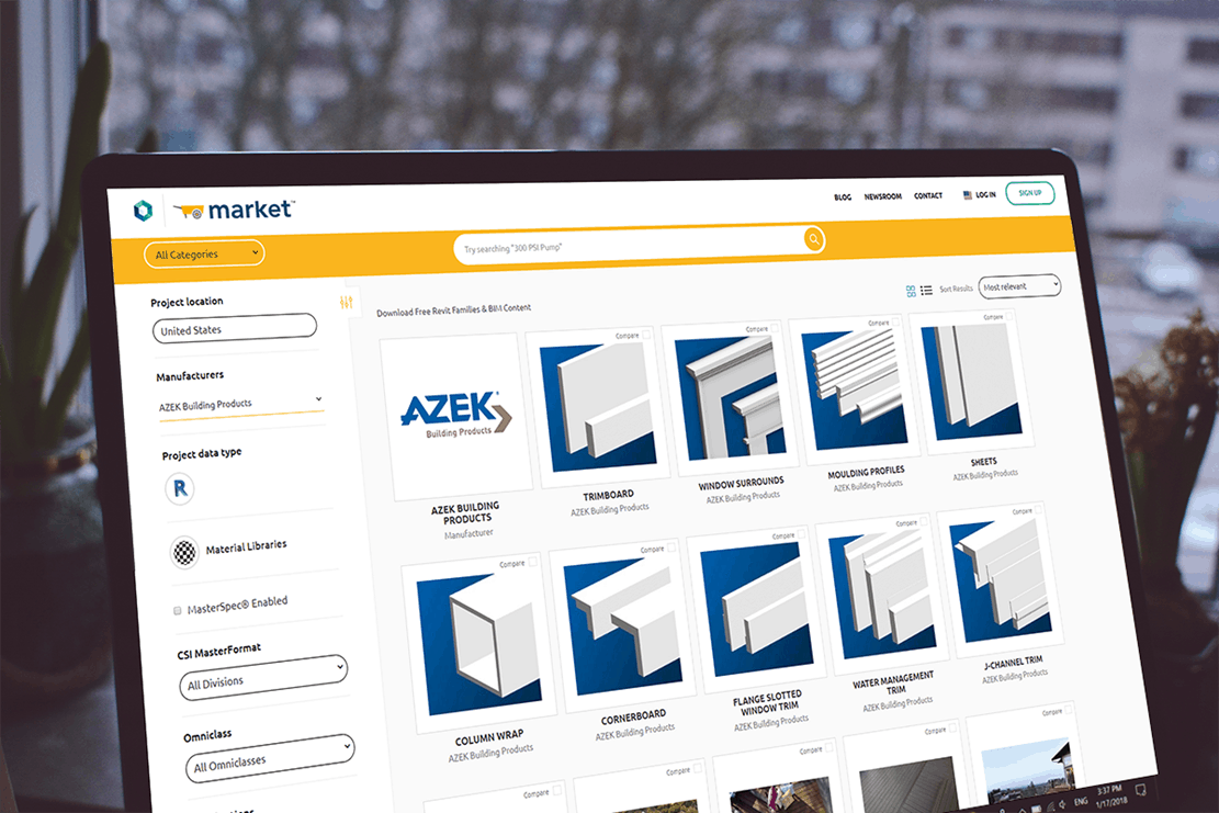 AZEK Building Products azek on screen laptop.