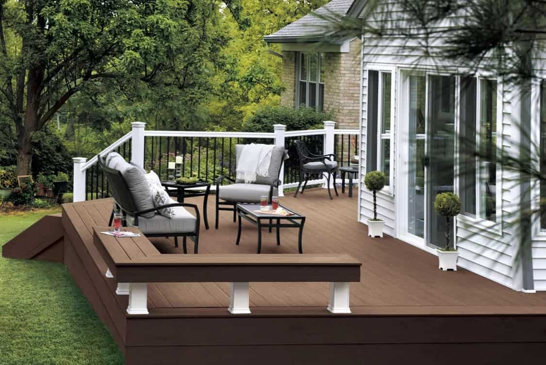 silver maple radiance rail deck
