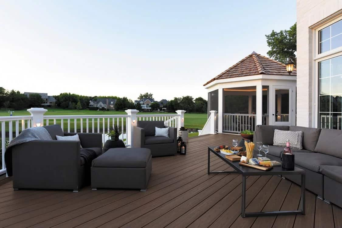 relaxed coastal rectangle octagon deck