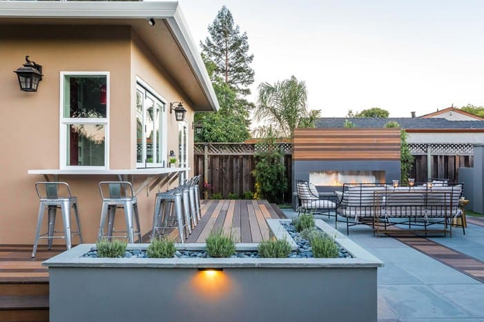 landscape design trends tri color decking 3
