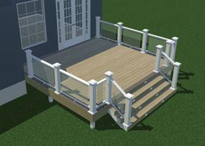 3d Rendering of 14x16 deck