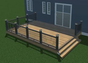 3d Rendering of 14x20 deck