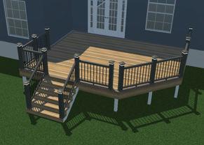 3d Rendering of 16x20 deck