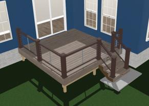 3d Rendering of 12x12 deck