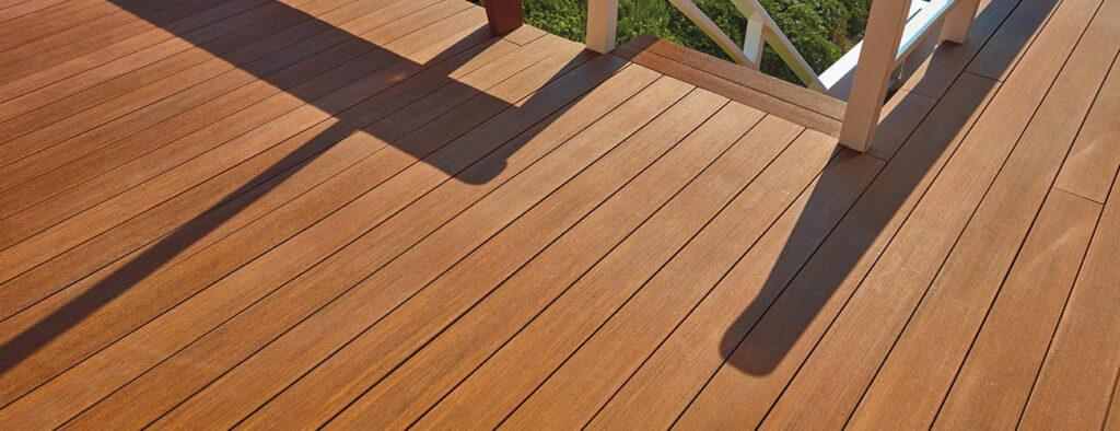 Replacing Wood Deck Boards With Composite Featuring TimberTech AZEK Vintage Collection in Mahogany