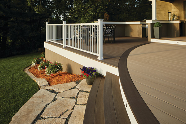 TimberTech AZEK Deck Color Combinations with Picture Frame Deck Pattern
