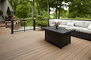 Capped Polymer Deck featuring TimberTech AZEK Vintage Collection in English Walnut