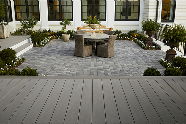 howto install composite decking over concrete featuring TimberTech AZEK Vintage Collection in Coastline