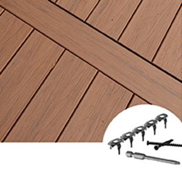 Composite decking fasteners FUSIONLoc hidden fastener
