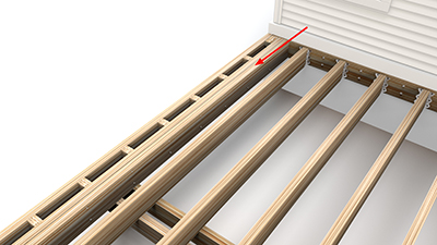Single Picture Frame Blocking Add Second Joist