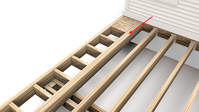 Triple Picture Frame Blocking Add Second Support Joist