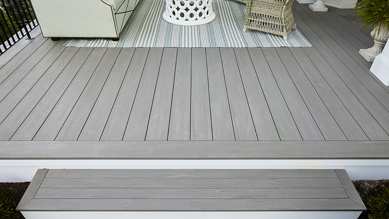 lay infill boards to fill deck surface