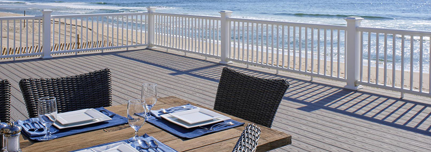 Best composite decking for full sun TimberTech AZEK capped polymer deck boards