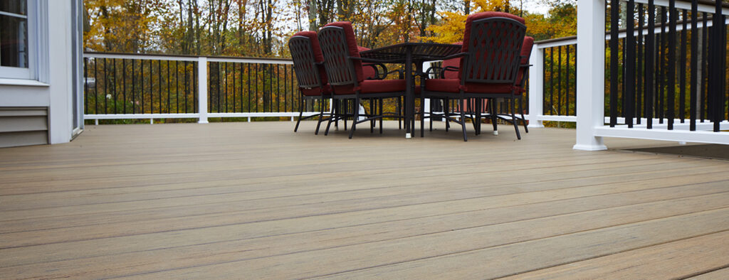 Can you stain composite decking featuring TimberTech PRO Legacy Collection Pecan