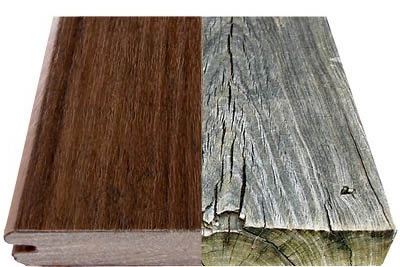 TimberTech vs wood side by side comparison