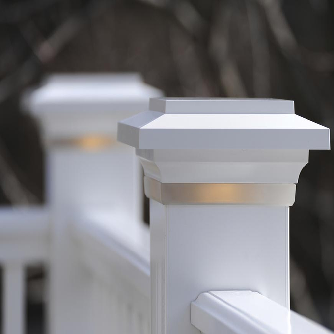 TimberTech Post Cap Light in Frosted White Color - Best Decking Lights