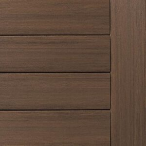Close-up swatch of TimberTech AZEK Vintage Collection English Walnut