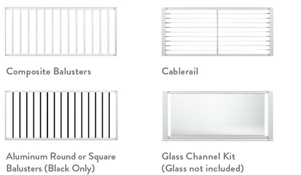 Railing Configurator Classic Composite Series Select Infill