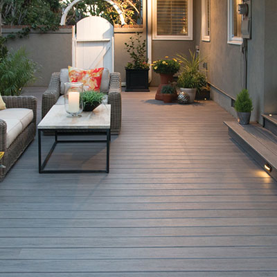 Step-down deck extension