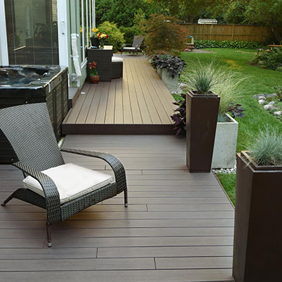 Step-up deck extension