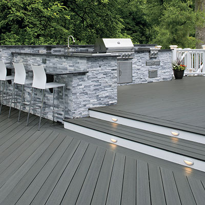 DIY decking materials with the best value include TimberTech EDGE