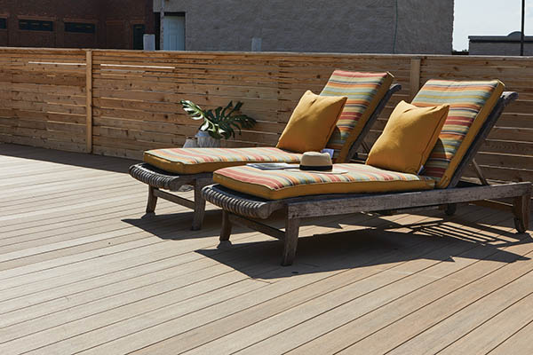 DIY decking materials with easy installation include TimberTech AZEK