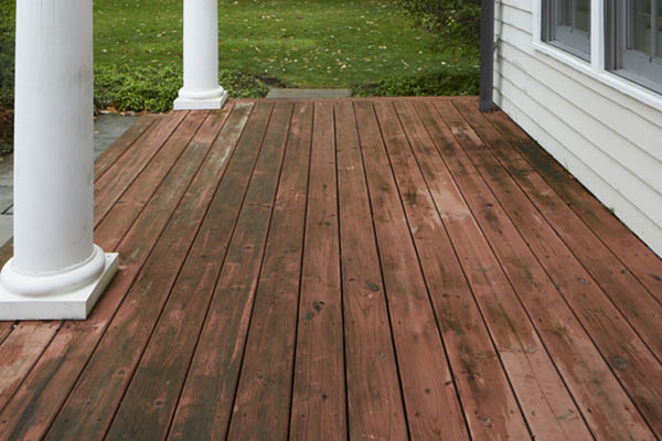Less-than-ideal deck material options include traditional wood