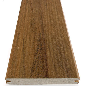 Deck material options including capped composite decking