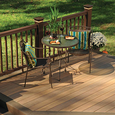 Low decks may require railing depending on their height