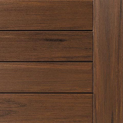 Composite decking swatch of TimberTech Mahogany