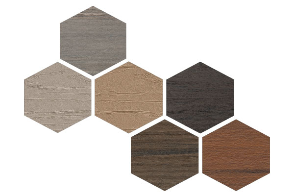 Deck board color swatches without labels