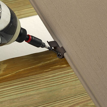 CONCEALoc hidden clip fastener application with a drill