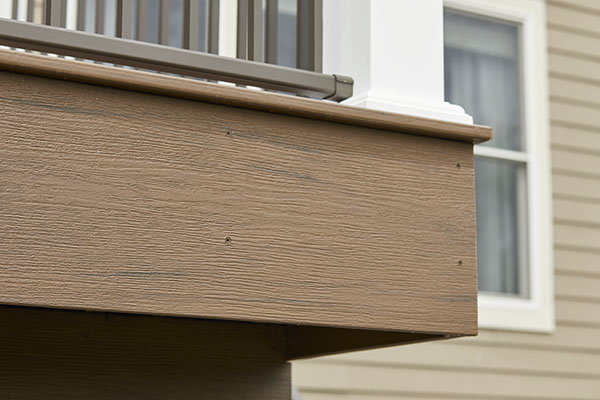 Ideas for how to finish the ends of composite decking including picture frame and fascia