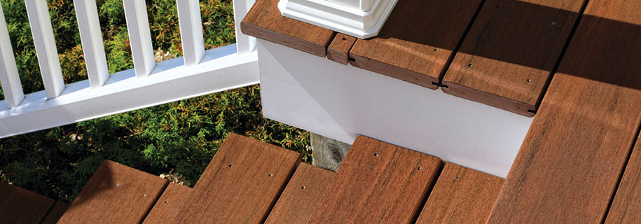 How to finish the ends of composite decking with end coating