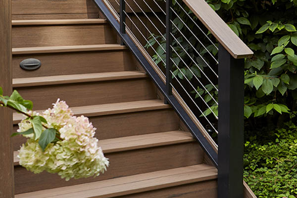 Outdoor stair railing ideas to make it modern