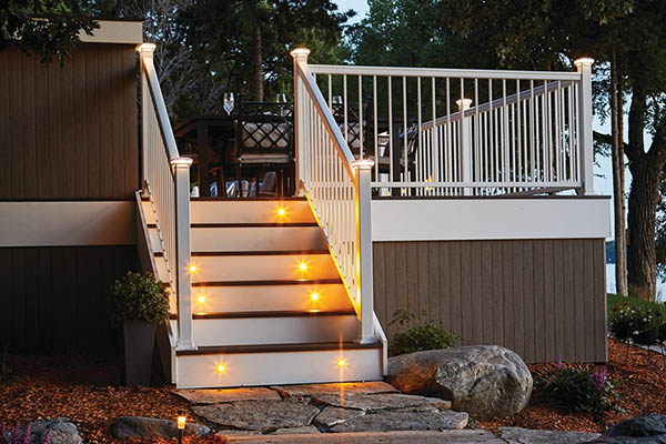 Outdoor stair railing ideas for atmosphere