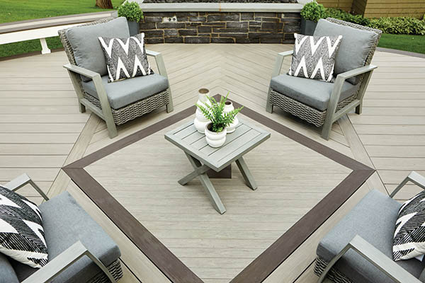 Use multi-width decking to create deck patterns