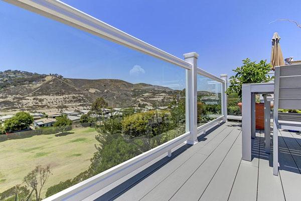 Glass panel railings for a clean, crisp perimeter